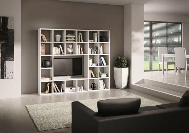 Libreria parete 571 librerie mensole soggiorno