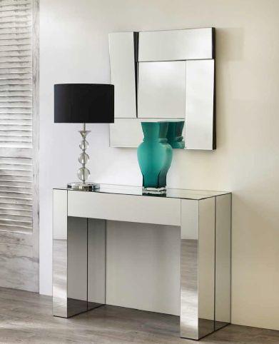 Tavolo consolle vanity tavoli consolle trasformabili for Consolle moderne in pelle