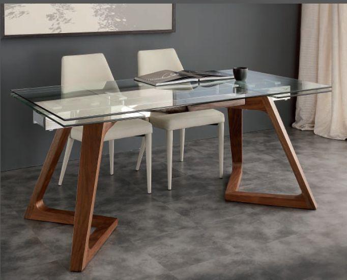 Tavolo gaud 647 tavoli cristallo allungabili tavoli for Tavoli in cristallo e acciaio