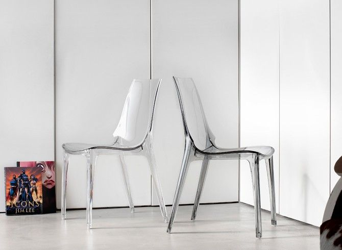 Sedia Vanity Chair in policarbonato