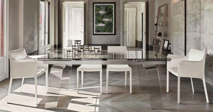 Vendita online shoparreda tavoli cristallo allungabili for Tavoli in cristallo