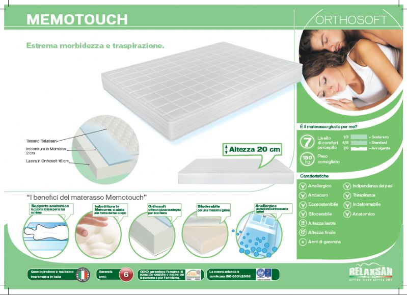 Materasso Memory Memotouch