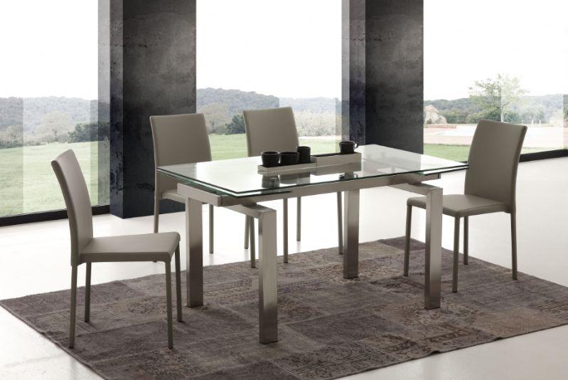Tavolo manhattan 672 tavoli cristallo allungabili tavoli for Tavoli cristallo design allungabili