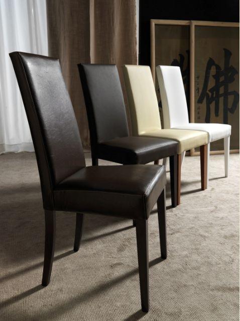 Sedia vertigo lux 120 sedie ecopelle pelle sedute for Sedie da soggiorno in pelle