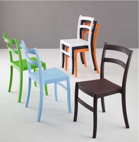 Sedia gaia 045 sedie moderne sedute for Sedie ecopelle colorate