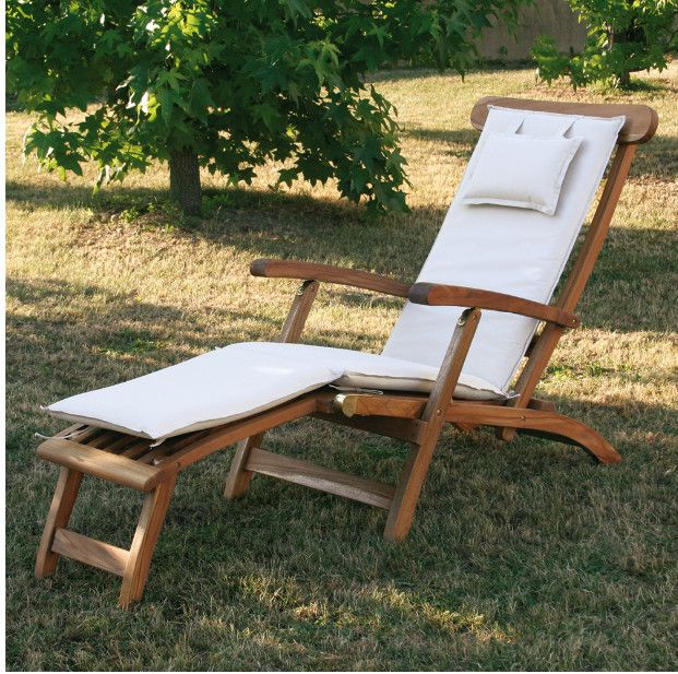 Chaise Longue/lettino Real 1821/14 in vero Teak
