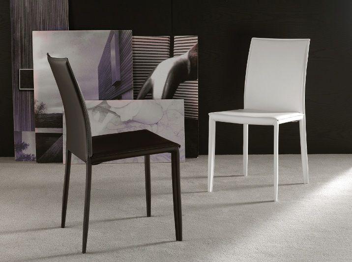 Sedia cathy 228 sedie ecopelle pelle sedute for Shop arreda