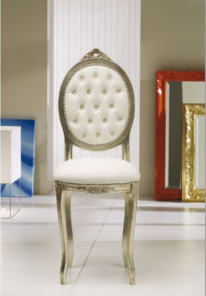 Sedia ovalina restile 350 capitonne 39 sedie classiche sedute for Sedie classiche