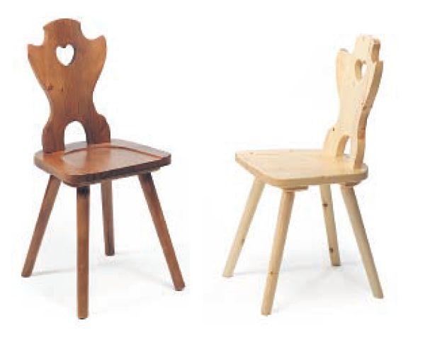 Sedia cuore 140 sedie classiche sedute