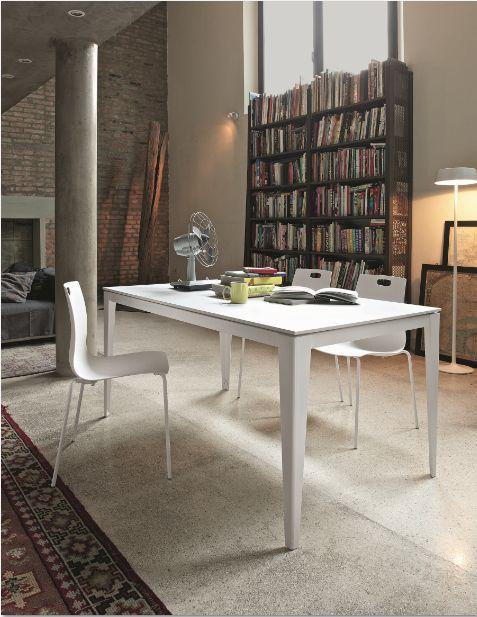 Tavolo dom l 120 x p 80 cm tavoli moderni for Tavolo consolle 80 cm