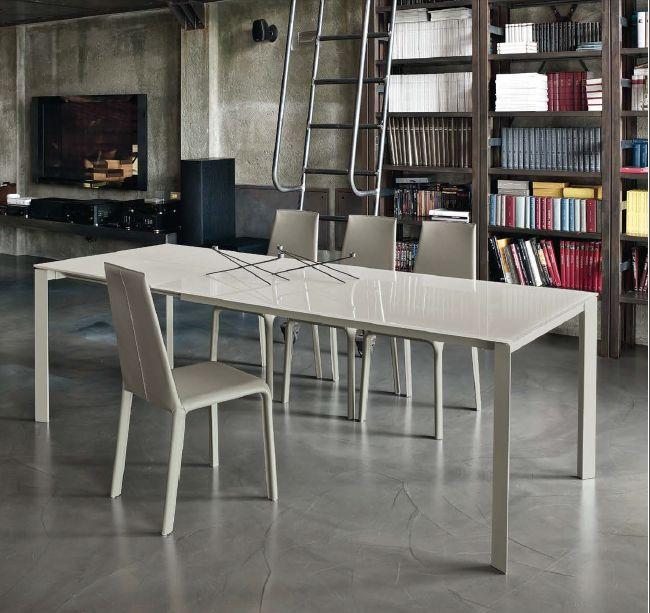 Tavolo dublino l 120 x p 80 cm tavoli moderni for Tavolo consolle 80 cm