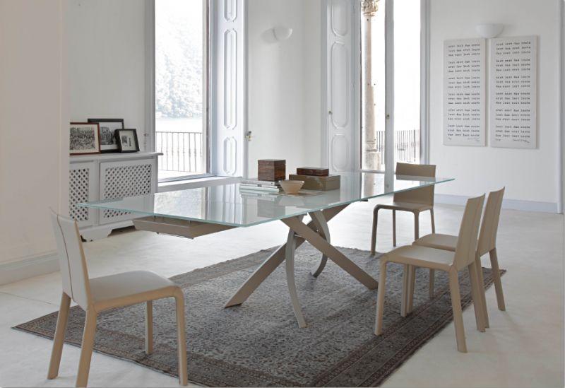 Tavolo artistico allungabile x cm tavoli for Tavoli in cristallo