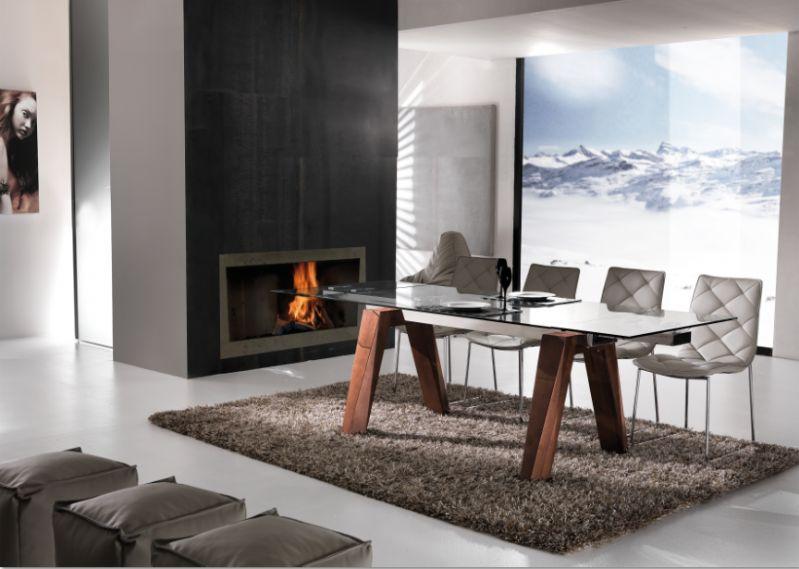 tavolo caronte 654 tavoli cristallo allungabili tavoli. Black Bedroom Furniture Sets. Home Design Ideas