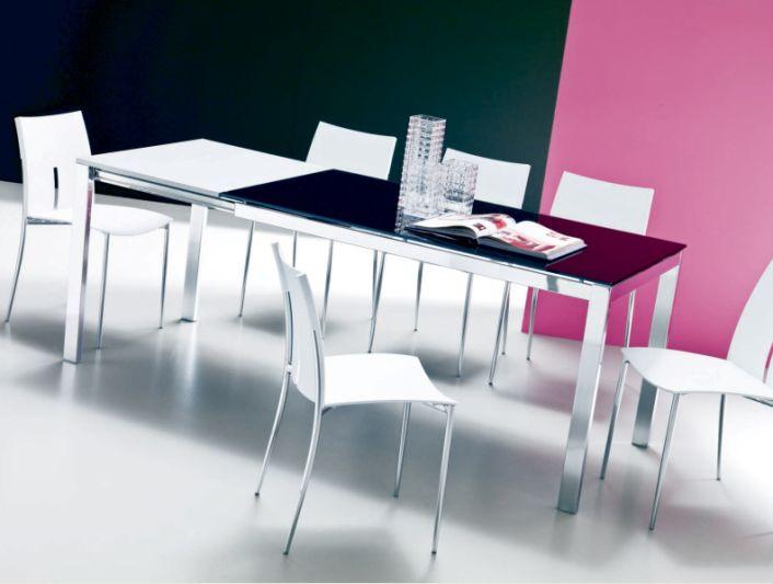 Tavolo eos l 120 x p 80 cm tavoli moderni for Tavolo consolle 80 cm