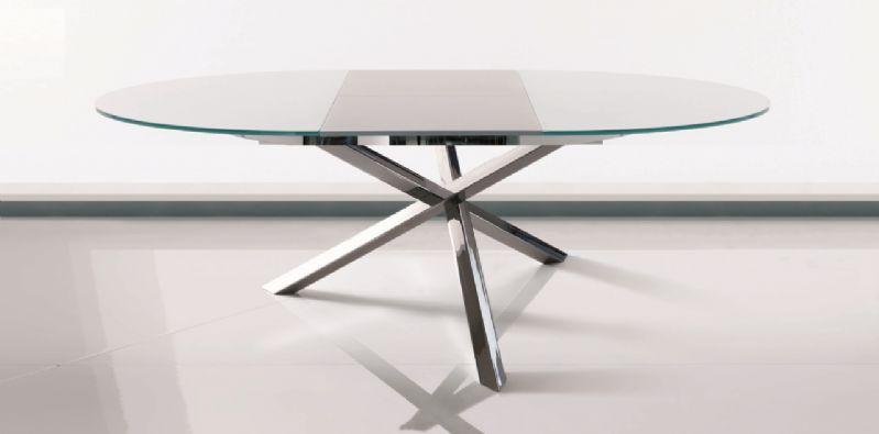 Tavolo Trio allungabile 42.47 tavoli cristallo allungabili - tavoli
