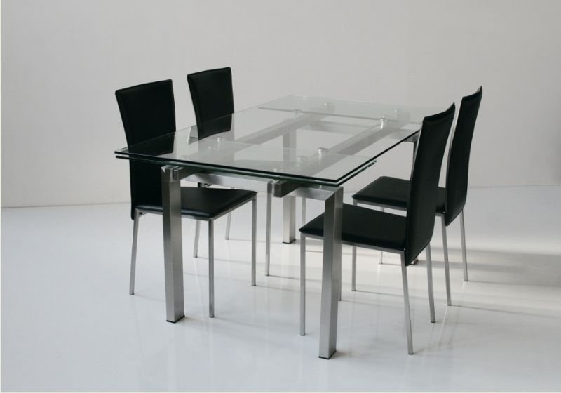 Tavolo new york 671 tavoli cristallo allungabili tavoli - Tavolo in cristallo allungabile ...