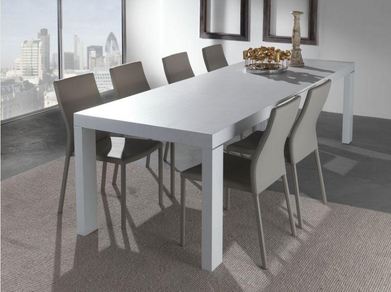 Tavolo wind 627 tavoli moderni allungabili tavoli for Tavoli bianchi moderni
