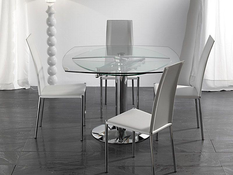 Tavolo ellisse 656 tavoli cristallo allungabili tavoli for Tavolo ovale allungabile calligaris