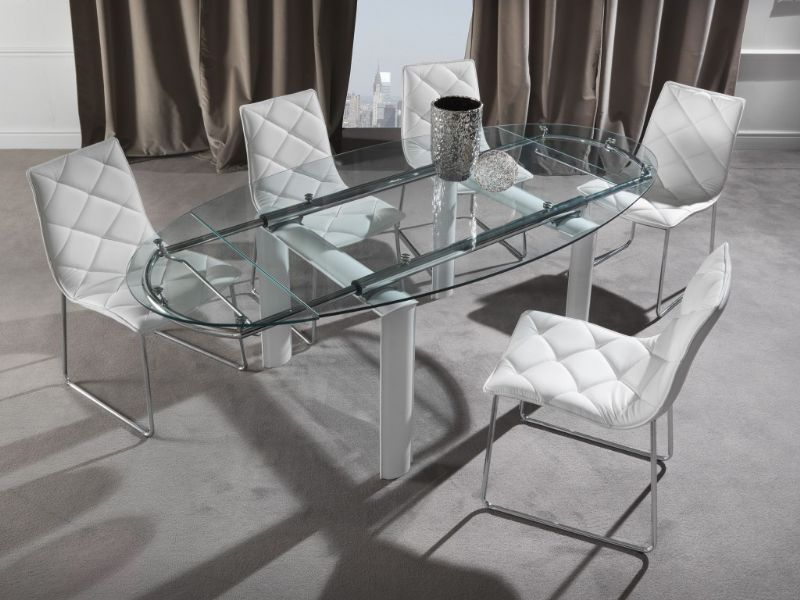 Tavolo palladio 679 tavoli cristallo allungabili tavoli for Tavoli in cristallo