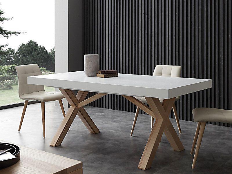 Tavolo leonardo 708 tavoli moderni allungabili tavoli for Tavoli bianchi moderni