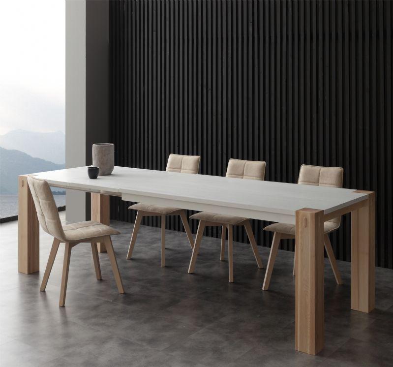 Tavolo factory bicolor 694 tavoli moderni allungabili tavoli for Tavoli allungabili moderni