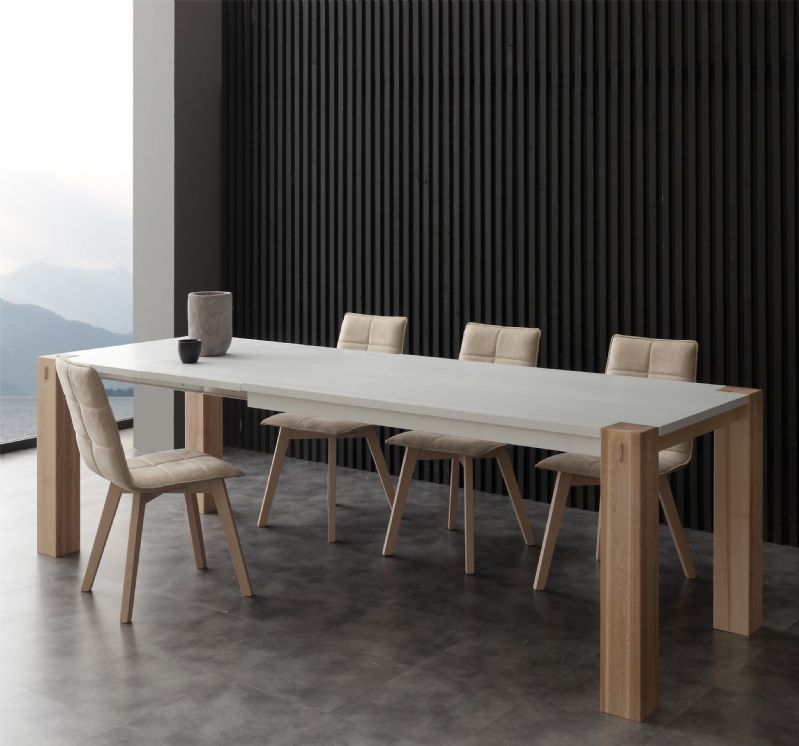 Tavolo factory bicolor 694 tavoli moderni allungabili tavoli for Design tavoli moderni
