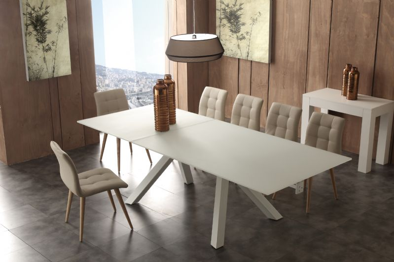Tavolo aliante 652 tavoli cristallo allungabili tavoli - Tavoli quadrati in cristallo ...