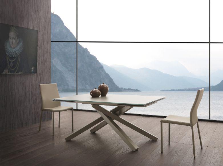 Tavolo Infinity Fisso 657 tavoli cristallo fissi - tavoli