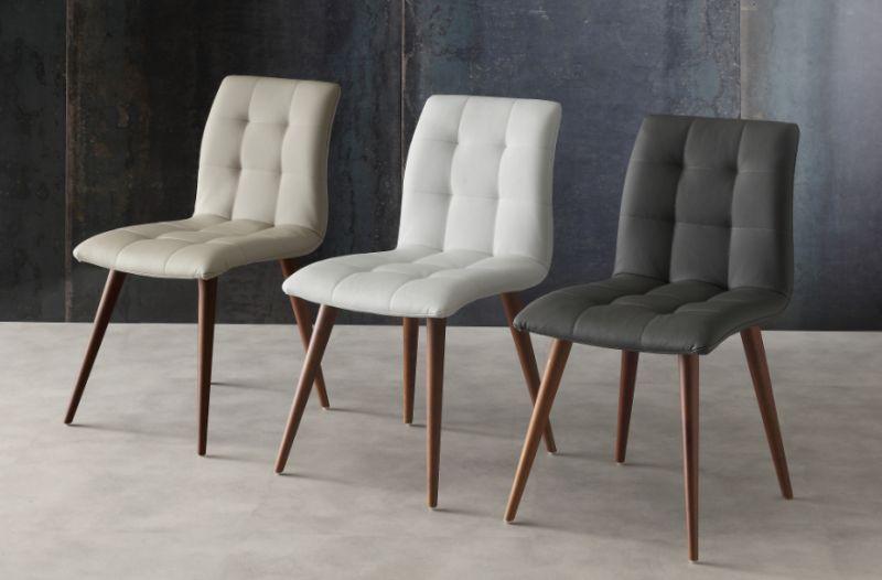 Sedia finland 130 sedie ecopelle pelle sedute for Sedie moderne economiche on line