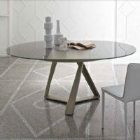 Tavolo Millennium 20.61<br />Diametro 125 cm. tavoli cristallo ...