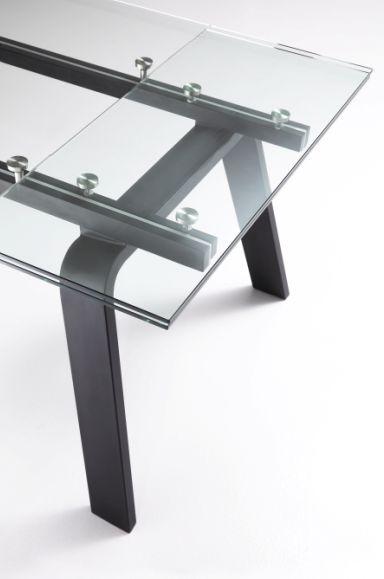 Tavolo noir 670 tavoli cristallo allungabili tavoli for Tavoli allungabili cristallo