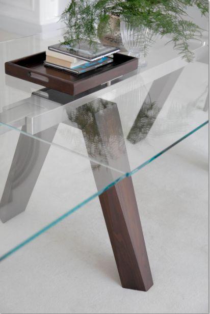 Tavolo aron tavoli moderni allungabili tavoli for Tavoli allungabili cristallo