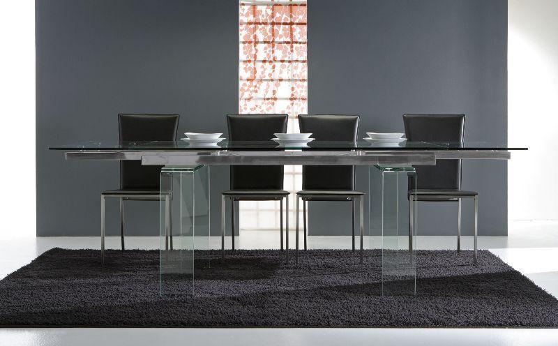 Tavolo glass 676 tavoli cristallo allungabili tavoli for Glass tavoli cristallo
